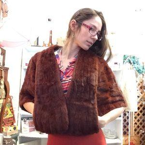 Vintage Jackets & Coats - Vintage Inga Umland Red Fur Stole